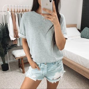 Aerie - Gray Short Sleeve Sweatshirt